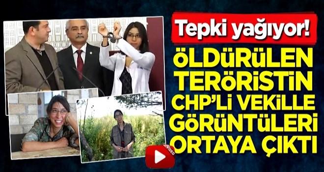 Öldürülen teröristin CHP'li vekille görüntüleri ortaya çıktı