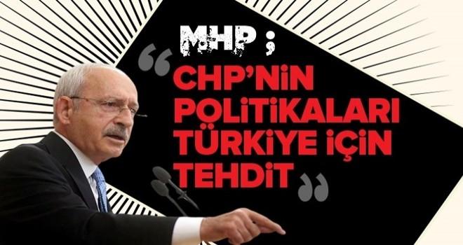 MHP: CHP'nin politikaları Türkiye için tehdit .
