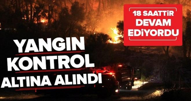 Muğla'da orman yangını! 18 saat sonra kontrol altına alındı .