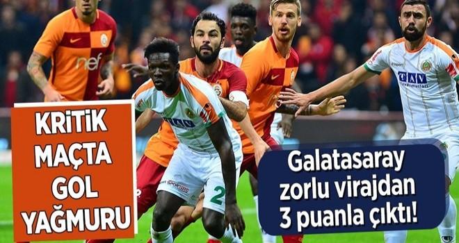 Galatasaray zorlu virajdan 3 puanla çıktı! .