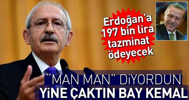 Kılıçdaroğlu Erdoğan'a tazminat ödeyecek .