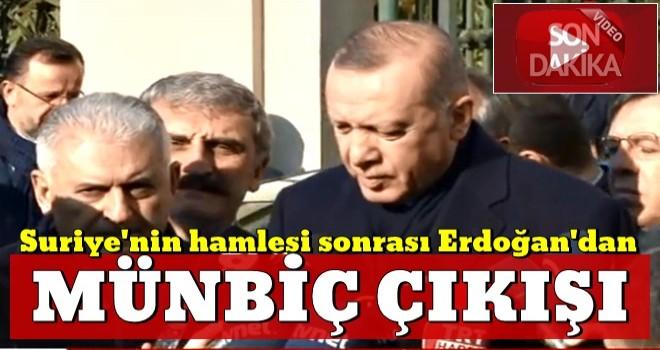 Başkan Erdoğan'dan 'Münbiç' açıklaması
