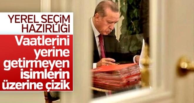 Cumhurbaşkanı Erdoğan'ın yerel seçim mesaisi