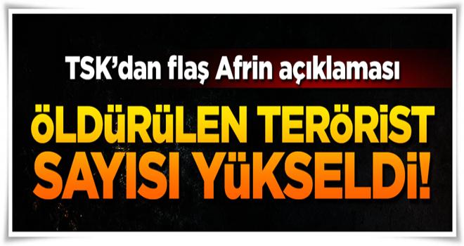TSK: Afrin'de 932 terörist öldürüldü