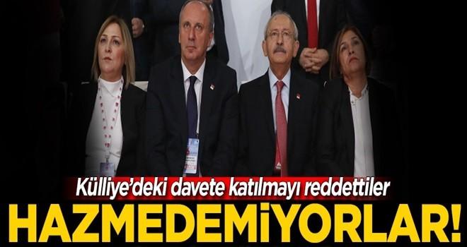 Kılıçdaroğlu ve İnce hazmedemedi! Törene katılmıyorlar