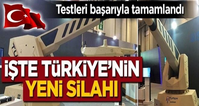 Test atışları başarıyla tamamlandı! İşte Türkiye'nin yeni silahı