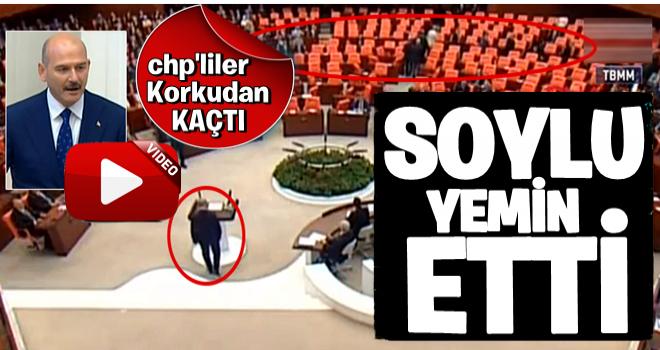 Süleyman Soylu yemin etti, CHP'liler korkudan böyle kaçtı!