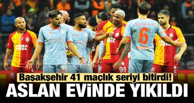 Galatasaray, kendi sahasında Medipol Başakşehir'e tek golle mağlup oldu