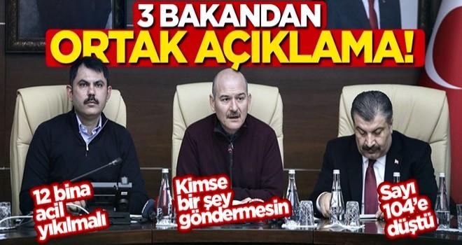 3 bakandan deprem açıklaması!