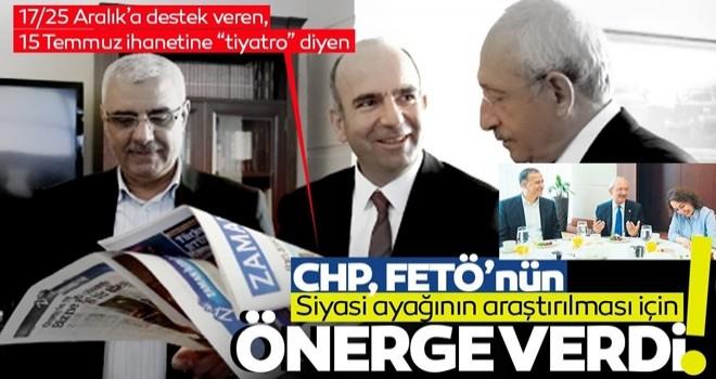 CHP'den, FETÖ'nün siyasi ayağı için tuhaf araştırma önergesi