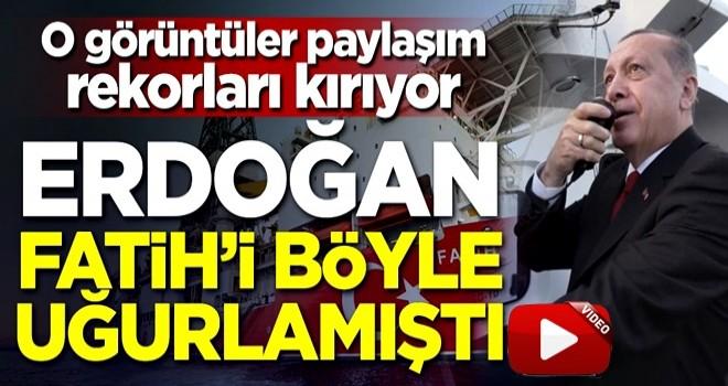 O görüntüler paylaşım rekorları kırıyor! Erdoğan Fatih'i Karadeniz'e böyle uğurlamıştı