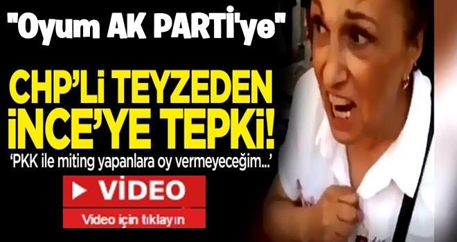 CHP'li teyze: PKK ile miting yapan İnce'ye oy vermeyeceğim!