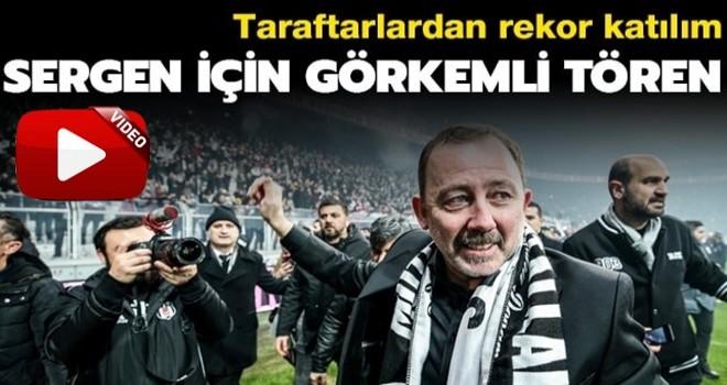 Beşiktaş'tan Sergen Yalçın'a 21 bin taraftarla görkemli imza töreni