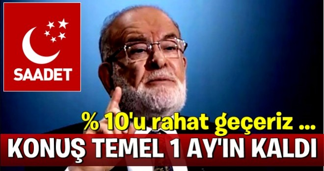 Karamollaoğlu 'anketler yalan söylüyor' deyip oy oranını açıkladı!