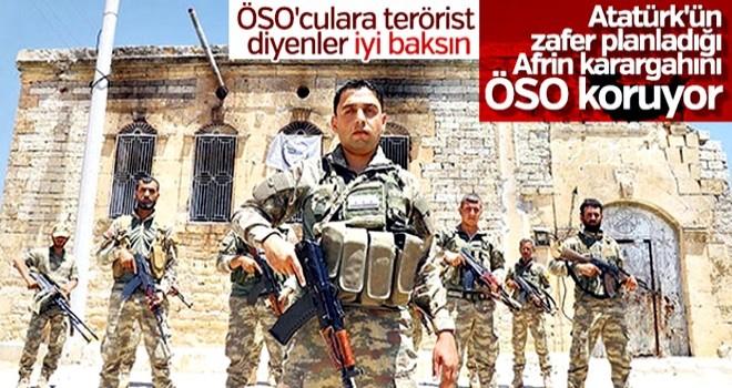 Terörden arındırılan Afrin'de ÖSO devriye geziyor