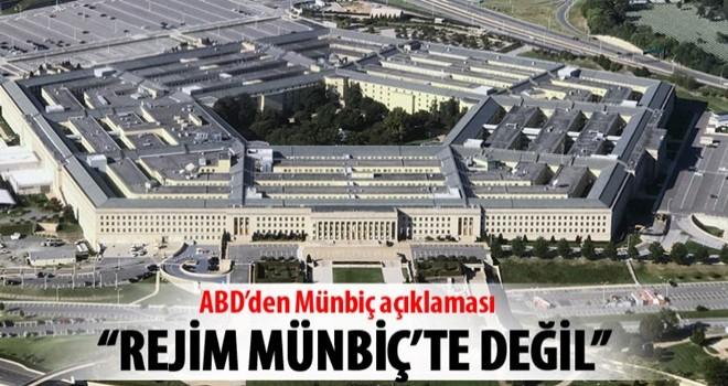 Pentagon: Münbiç'te askeri nitelikli değişiklik yok