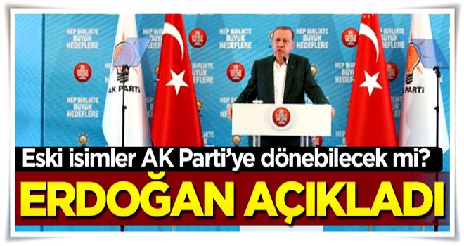 Eski isimler AK Parti'ye geri dönebilecek mi?