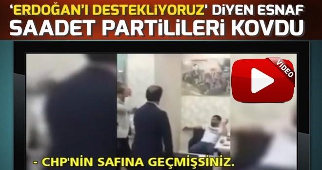 Esnaf Saadet Partilileri dükkanından kovdu .