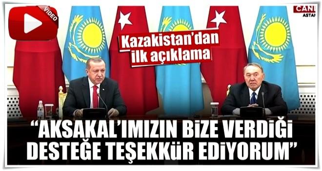 Cumhurbaşkanı Erdoğan Kazakistan'da konuştu