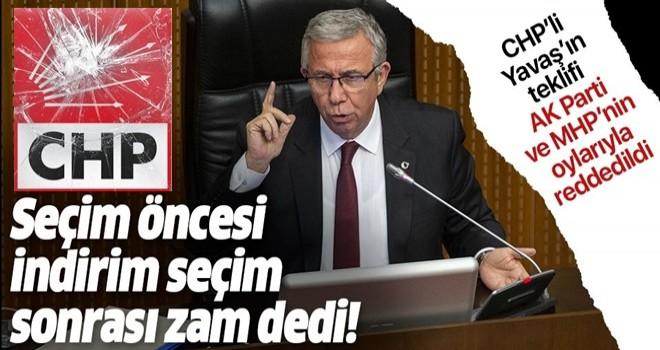 Mansur Yavaş'ın fahiş zam teklifi AK Parti ve MHP'nin oylarıyla reddedildi! .