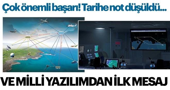 Milli askeri yazılım, ilk mesajını verdi! 'Merhaba tarihi an'