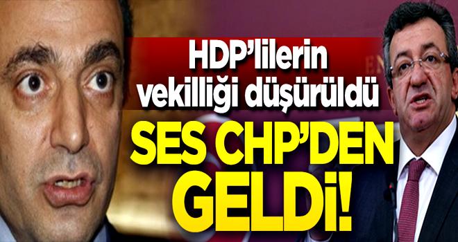 HDP'lilerin vekilliği düşürüldü, ses CHP'den geldi!