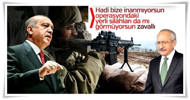 Erdoğan'dan Kılıçdaroğlu'na yerli silah cevabı