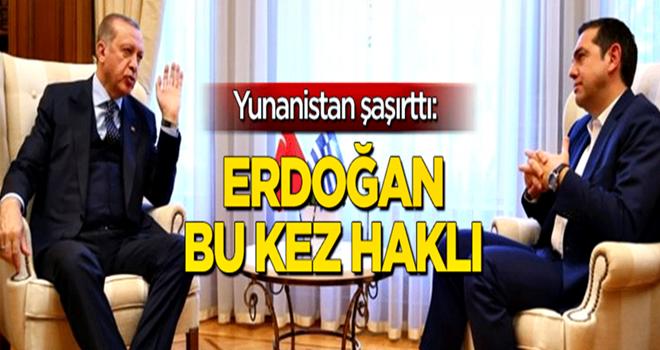 Yunanistan'dan şaşırtan açıklama: Erdoğan bu kez haklı