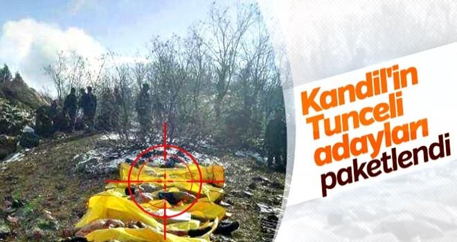 Tunceli'de eylem hazırlığı yapan teröristlerin son hali