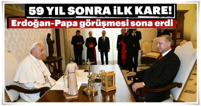 Cumhurbaşkanı Erdoğan Vatikan'da!