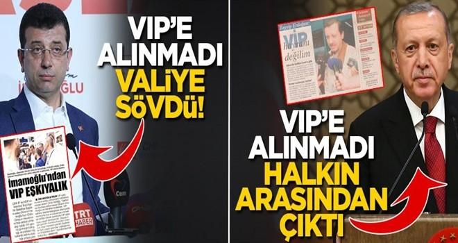 CHP'li aday VIP'e alınmayınca ağzını bozdu! Erdoğan VIP'e alınmayınca halkın arasından çıktı