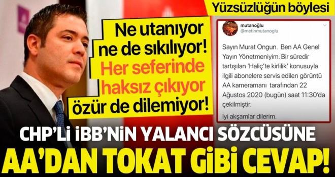 Murat Ongun'un 'Haliç' yalanı elinde patladı! AA'dan görüntülü cevap