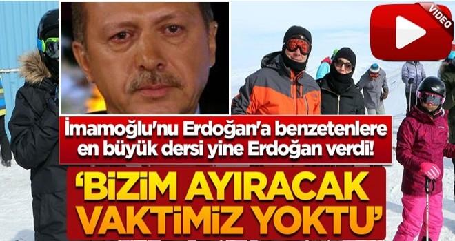 İ.oğlu'nu Erdoğan'a benzetenlere en büyük dersi yine Erdoğan verdi! 'Bizim ayıracak vaktimiz yoktu'
