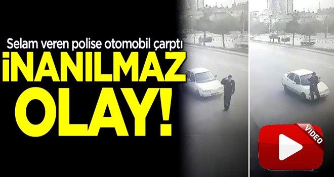 İnanılmaz olay! Vali'ye selam veren polise otomobil çarptı