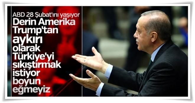 Cumhurbaşkanı Erdoğan: ABD'de 28 Şubat süreci yaşanıyor