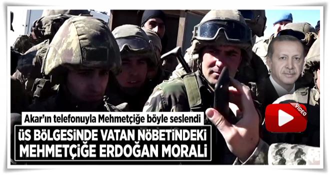 Cumhurbaşkanı Erdoğan, Akar'ın telefonuyla Mehmetçiğe böyle seslendi