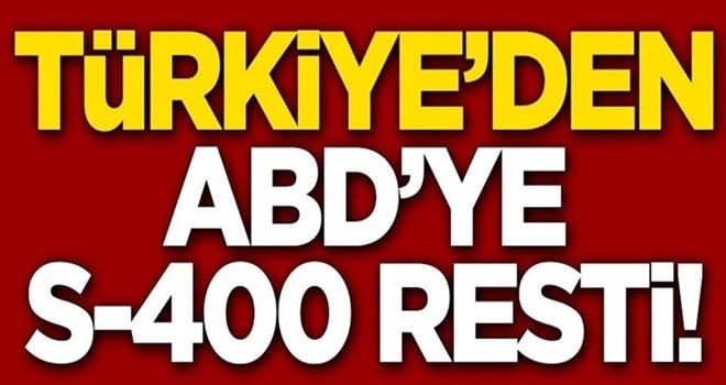 Türkiye'den S-400 resti: Geri adım atmayacağız