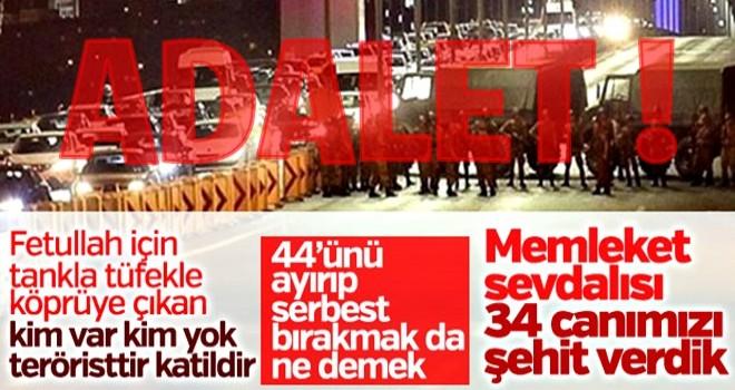 Şehitler Köprüsü davasında 44 sanığa BERAAT !