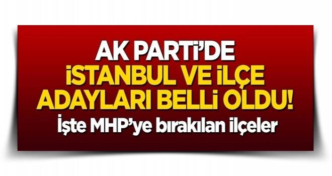 AK Parti'de İstanbul ve ilçe adayları belli oldu!