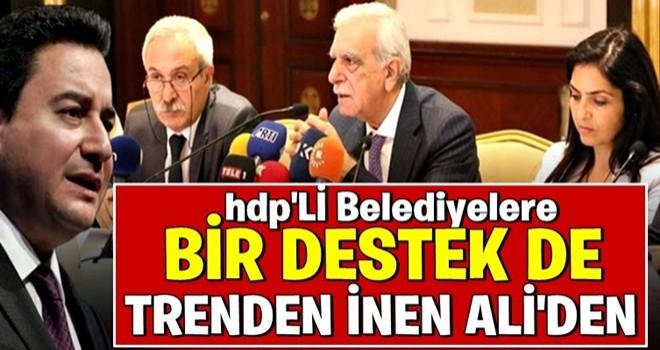 Ali Babacan'dan HDP'li belediyelere kayyım yorumu!