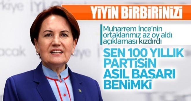 Meral Akşener, Muğarrem İnce'ye cevap verdi
