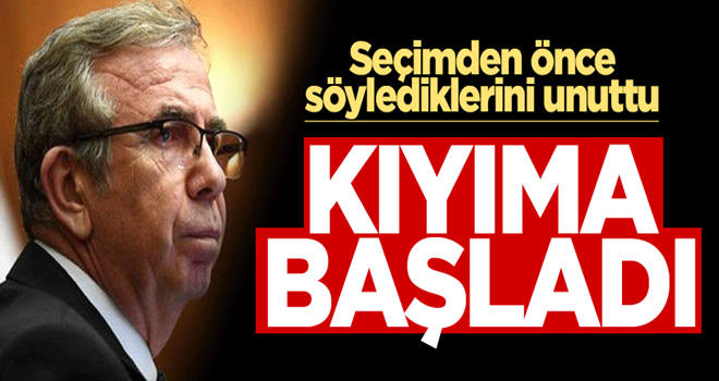 Ankara Büyükşehir Belediyesi Başkanı Mansur Yavaş kıyıma başladı