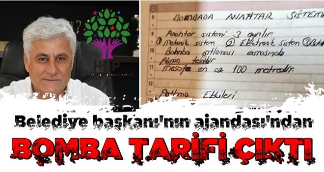 Gözaltına alınan HDP'li başkanın defterinden bomba tarifi çıktı!