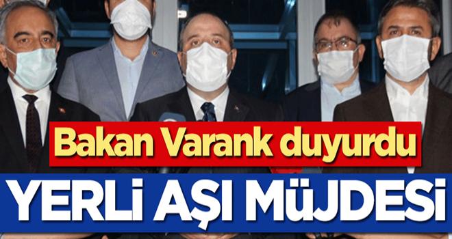 Sanayi ve Teknoloji Bakanı Mustafa Varank'tan yerli aşı müjdesi