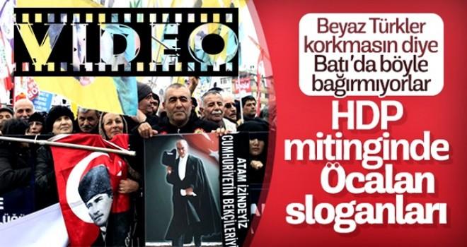 HDP mitinginde 'Kürdistan' ve 'Öcalan' propagandası