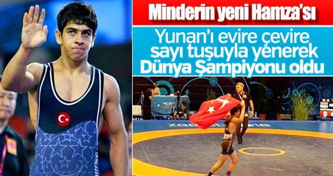 Genç güreşçi Hamza Alaca Dünya Şampiyonu