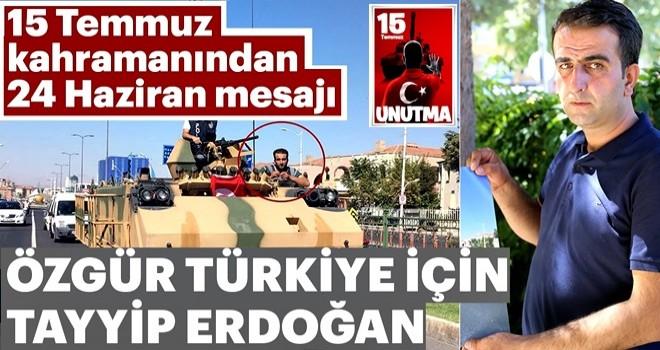 Özgür Türkiye için Erdoğan