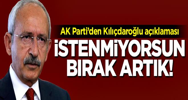 Bülent Turan: İstenmiyorsun bırak artık!