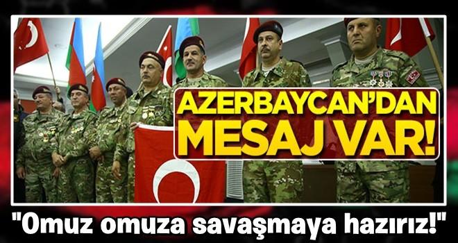 Azerbaycan Türk'ü gazilerden Barış Pınarı Harekatı'na destek