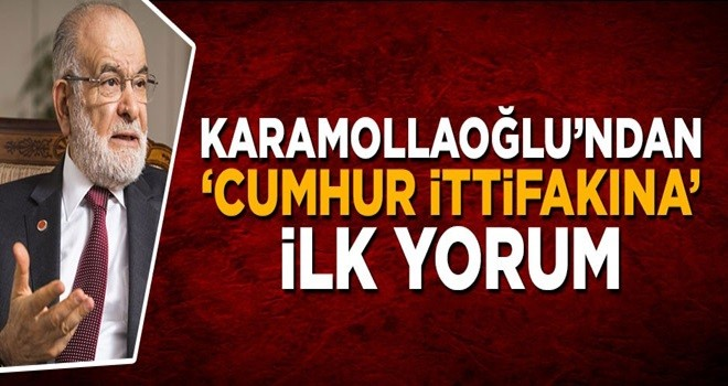 Temel Karamollaoğlu'ndan 'cumhur ittifakına' ilişkin açıklama